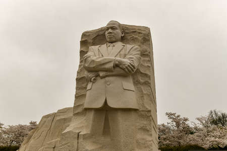 Washington, DC - April 7, 2018: The memorial to the civil rights leader Martin Luther King, Jr. during the spring season in West Potomac Park.