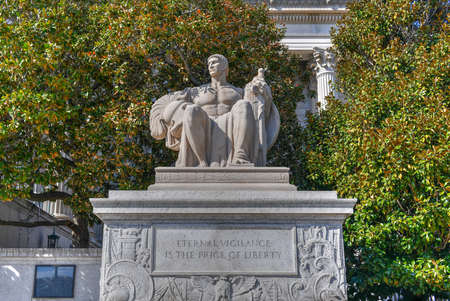 The Guardianship Sculpture near National Archives Building in Washington DC, USA Stock Photo