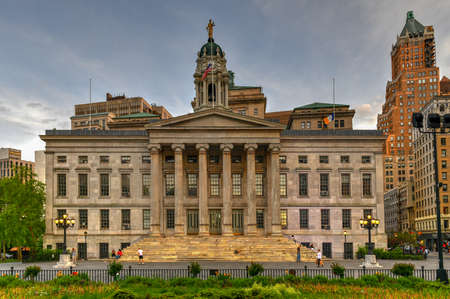 Brooklyn Borough Hall in New York, USA. Constructed in 1848 in the Greek Revival style. 에디토리얼