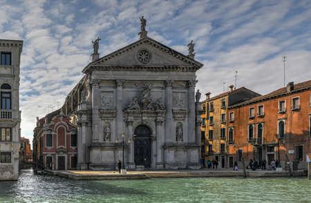 Church of St. Eustachio or San Stae at Grand canal Venice, Italy, founded at the beginning of the eleventh century and reconstructed in the seventieth century
