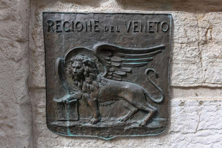 The Lion of Saint Mark, representing the evangelist St Mark, pictured in the form of a winged lion holding a Bible, is the symbol of the city of Venice, Italy.