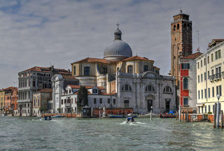 The church of San Geremia on the Grand Canal in Venice. Stok Fotoğraf