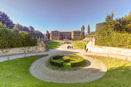 Palazzo Pitti and the Boboli Gardens is a park in Florence, Italy, that is home to a collection of sculptures dating from the 16th through the 18th centuries, with some Roman antiquities. Фото со стока
