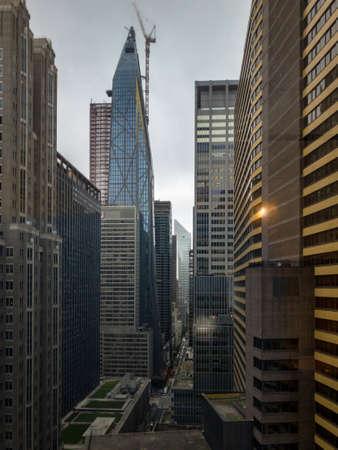 Aerial view of Midtown Manhattan in New York City.
