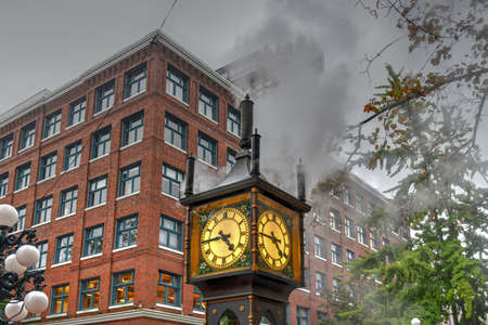 Steam-powered clock found at Gastown (a national historic site) located in Vancouver, British Columbia 写真素材