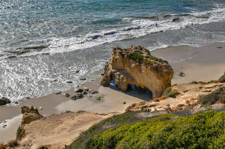 Beautiful and romantic El Matador State Beach in Malibu, Southern California