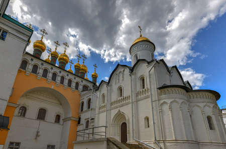 Church of the deposition of the robe in the Moscow Kremlin, Russia Editorial