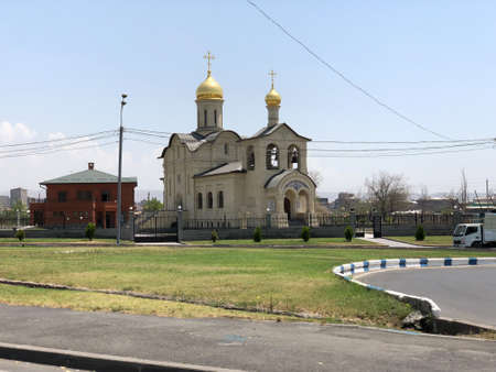 The Cathedral of the exaltation of the Holy Cross, Russian Orthodox Church in Yerevan, Armenia. Stock fotó