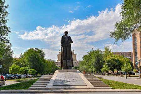 Yerevan, Armenia - July 7, 2018: Monument to Garegin Ter-Harutyunyan, better known as Garegin Nzhdeh (1886-1955) - Armenian statesman and military strategist.