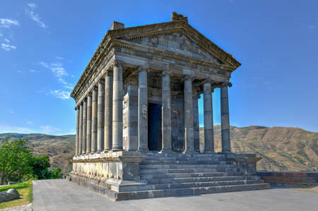 Temple of Garni, an Ionic Pagan temple located in the village of Garni, Armenia. It is the best-known structure and symbol of pre-Christian Armenia.