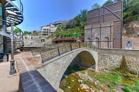 View of the Love Lock Bridge in Old Tbilisi, Georgia