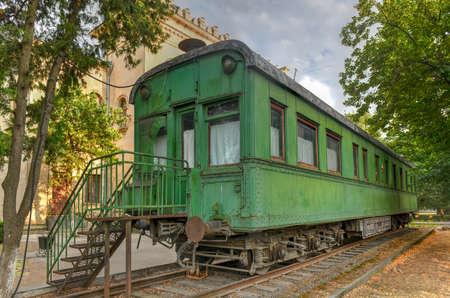 Personal green train wagon of dictator Joseph Stalin in his birthplace Gori, Georgia