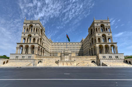Government House and Council of Ministers of Azerbaijan, located on Freedom Square in Baku, Azerbaijan.
