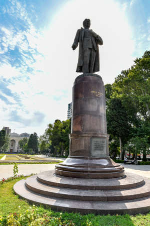 Samad Vurgun Park in Baku Azerbaijan. He was an Azerbaijani and Soviet poet, dramatist, public figure. Editorial