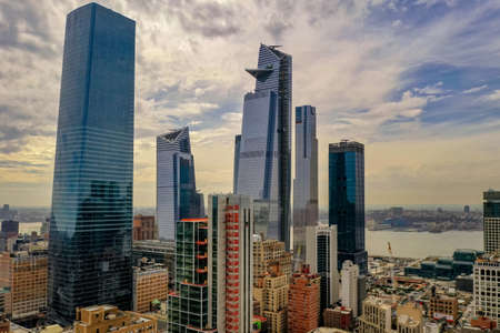 Panoramic view of Midtown Manhattan in New York City during the day.