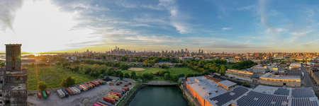 The Red Hook Grain Terminal in the Red Hook neighborhood of Brooklyn, New York.