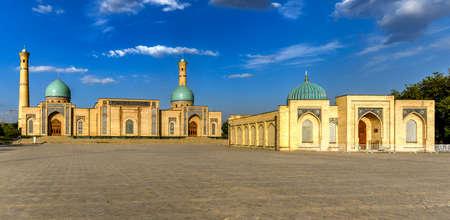 View of the Tashkent Hazrati Imam Complex Barakhan Madrasa in Tashkent, Uzbekistan. Фото со стока