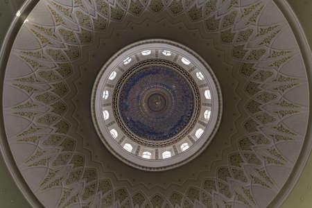 Tashkent, Uzbekistan - Interior of the Minor Mosque in Tashkent, Uzbekistan. It is a relatively new mosque opened on 1 October 2014.