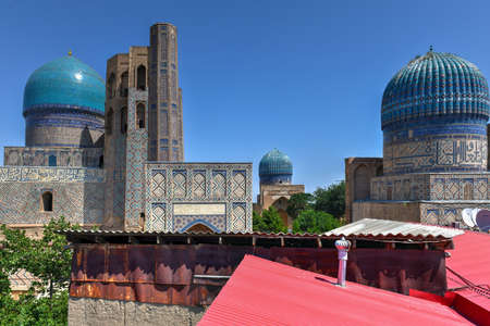 Bibi Khanym Mosque in Samarkand, Uzbekistan. In the 15th century it was one of the largest and most magnificent mosques in the Islamic world.