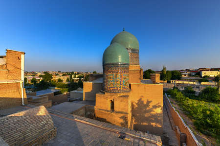 Shah-i-Zinda or Shohizinda (The Living King), a necropolis in Samarkand, Uzbekistan. Stock Photo