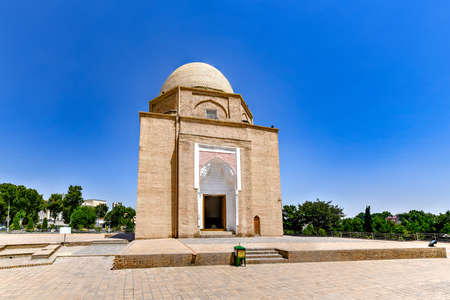 Samarkand Rukhobod Bricks Cupola Mausoleum in Samarkand, Uzbekistan. It is one of the oldest monuments in the city. 에디토리얼