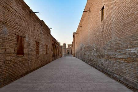 Narrow Streets of the old city of Khiva, Uzbekistan