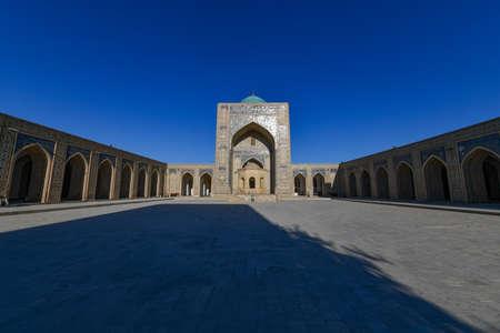 Inner courtyard of the Kalyan Mosque, part of the Po-i-Kalyan Complex in Bukhara, Uzbekistan. Stock fotó