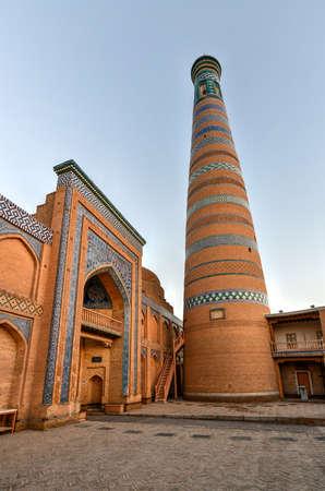 The architecture of the old city's madrassa and Islam Khoja Minaret.