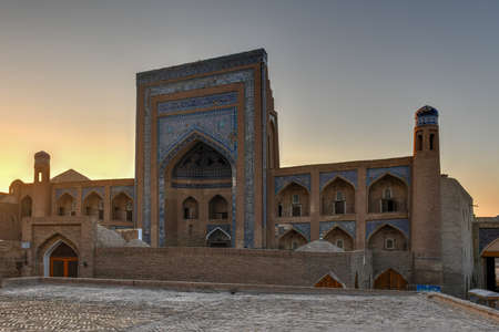 Khoja Berdibai madrasah built in 1688. The madrasah is one of the oldest madrasah which survived in Khiva, Uzbekistan up to date.