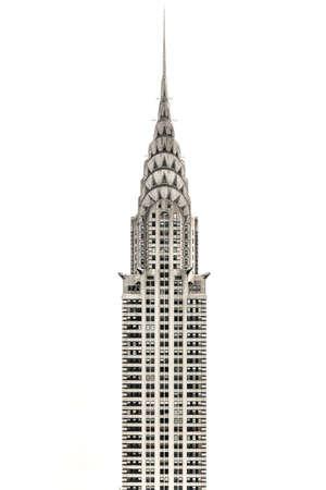 New York City - 25 octobre 2019 : vue sur le Chrystler Building le long des toits de la ville de New York pendant la journée. Éditoriale