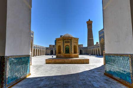 Inner courtyard of the Kalyan Mosque, part of the Po-i-Kalyan Complex in Bukhara, Uzbekistan. Editorial