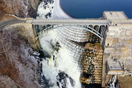 Croton Gorge Park at the base of New Croton Dam in Westchester, New York