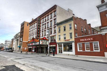 Poughkeepsie, New York - Feb 16, 2020: Historic Bardavon 1869 Opera House in Poughkeepsie, New York.