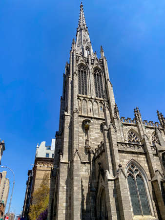 Grace Church is a historic parish church in Manhattan, New York City which is part of the Episcopal Diocese of New York. Stock fotó