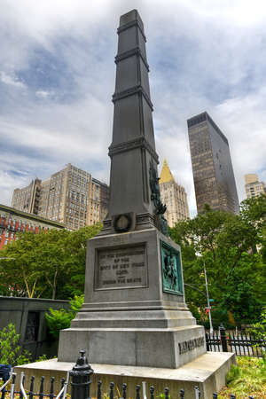 New York City, New York - June 11, 2020: Honoring General William Jenkins Worth and dating to 1857, this site is the second oldest major monument in the parks of New York City.