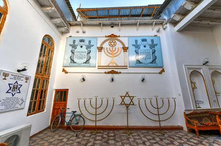 Bukhara, Uzbekistan - July 12, 2019: Interior of the Bukhara Synagogue, in Bukhara, Uzbekistan.