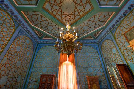 Bukhara, Uzbekistan - July 12, 2019: Sitora-i Mokhi Khosa - the Summer Palace of Bukharan Emirs in Uzbekistan.