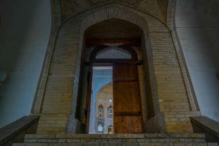 Inner courtyard of the Kalyan Mosque, part of the Po-i-Kalyan Complex in Bukhara, Uzbekistan. Sajtókép