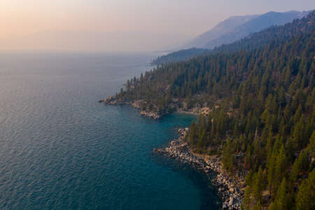 Secret Cove along Lake Tahoe in Nevada. Secret Cove is one of a series of beaches located along Highway 28 on the remote east shore of Lake Tahoe.