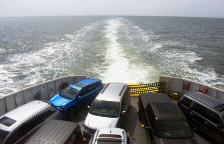 Crossing Delaware Bay by Lewes to Cape May Ferry - Standing room only on ferry