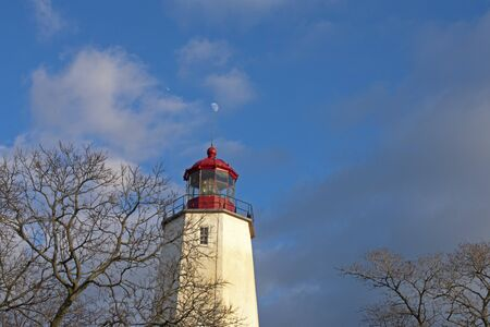Lighthouse in Sandy Hook, New Jersey, during daylight hours, with the light turned off -18