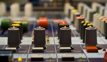 regulators: Sound producer mixer. Regulators. Close-up