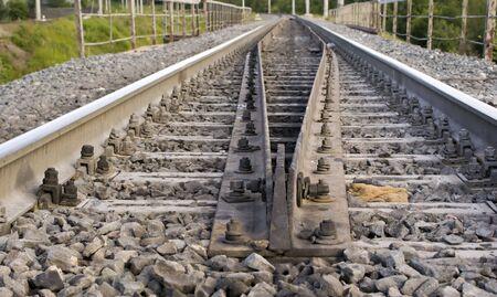 prospect: Railway. Rail r�sultat d'une perspective de quitter