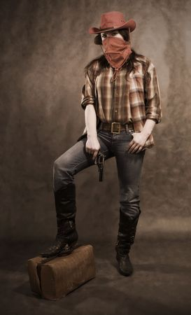 hand wear: American cowgirl in a western movie style