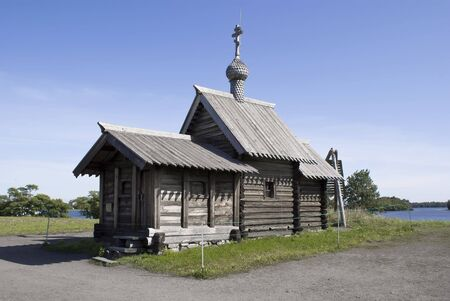 Kizhi, Russia. The Church of the Lasarus Resurrection (XIV century). A religious building traditional for the Russian North. photo