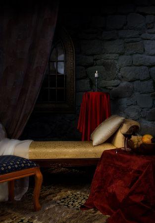 castello medievale: Lussuosi interni in stile aristocratico
