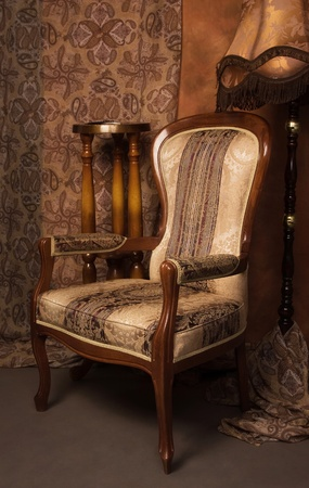 Luxurious interior in the vintage style photo