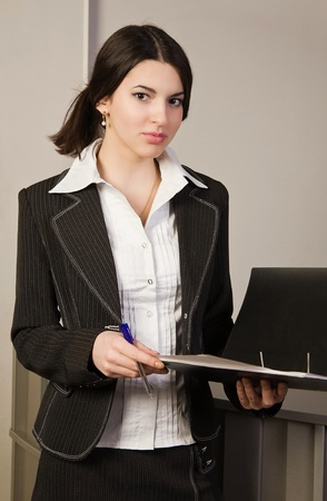 Portrait of the secretary in a office Stock Photo - 9058406