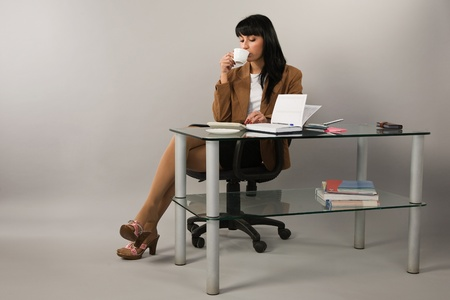 Portrait of the business woman in a office Stock Photo - 9058362