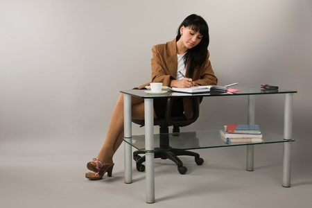 Portrait of the business woman in a office Stock Photo - 9058364
